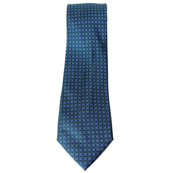 MICHAEL KORS Green Small Stitched Neat Silk Tie